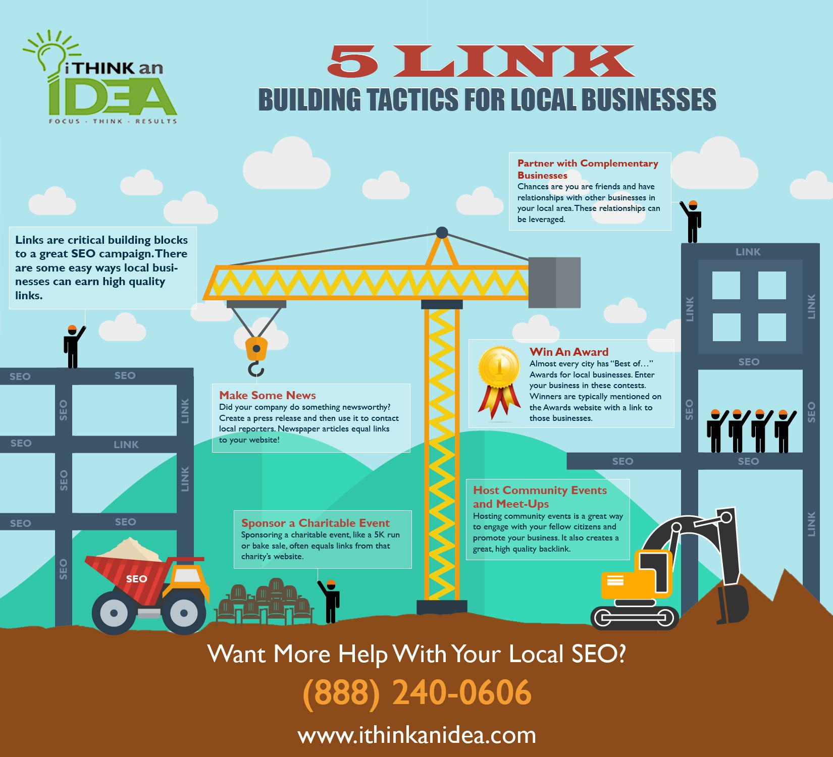 5 link building tactics for local business