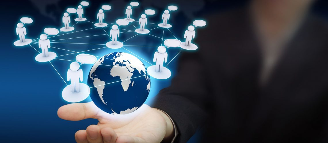 11122537 - social network in business hand